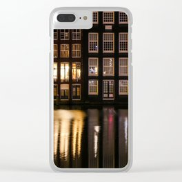 Amsterdam houses 2. Clear iPhone Case