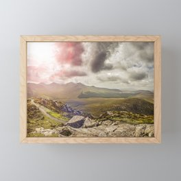 Ireland Mountain Landscape Panorama Framed Mini Art Print
