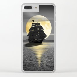 A ship with black sails Clear iPhone Case