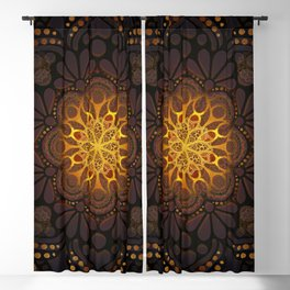 """Warm light Moroccan lantern Mandala"" Blackout Curtain"