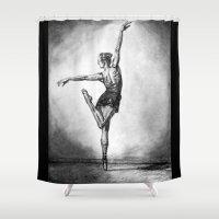 ballerina Shower Curtains featuring Ballerina by Megan