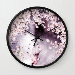 Memory of flowers Wall Clock