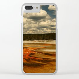 Hot And Colorful Thermal Area Clear iPhone Case
