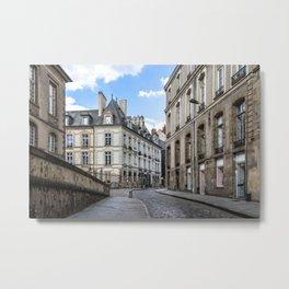 Old town street of Rennes Metal Print