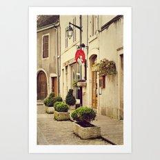 Le P'tit Paradis, Beaune France Storefront Art Print