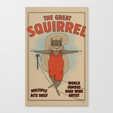 The Great Squirrel Canvas Print
