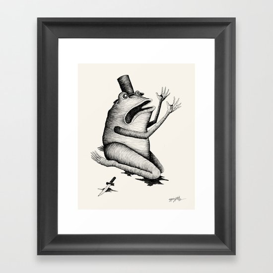 'What have I done?' Framed Art Print