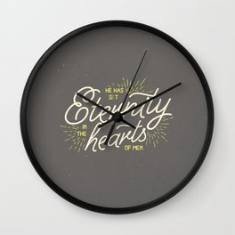 ETERNITY IN HEARTS Wall Clock