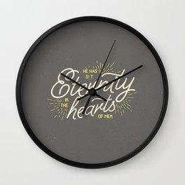 ETERNITY IN HEARTS Wall Clock