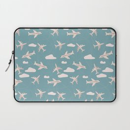 Travel pattern with airplanes Laptop Sleeve