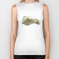 animal skull Biker Tanks featuring animal skull by jenni leaver