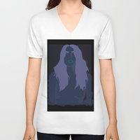 bambi V-neck T-shirts featuring Bambi by pink tar