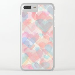 Floating Hearts Clear iPhone Case