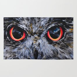 Seeing: The Eyes of an Owl Rug