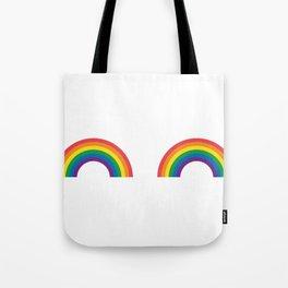 Gay Pride Rainbow Boobs LGBT Pride Tote Bag