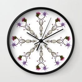 Scottish Thistle and Italian Cardo Wall Clock