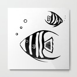 Two Angel Fish Metal Print