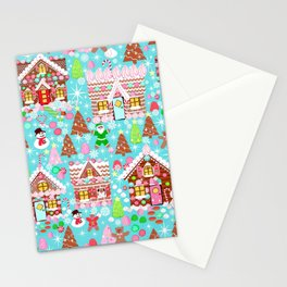 Gingerbread House Christmas Winter Candy, sweets.christmas gift, holiday gift for kids of all ages, Stationery Cards