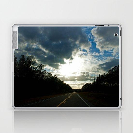 Driving on a Cloudy Evening Laptop & iPad Skin
