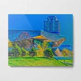 Bavarian Car Tower in Munich Metal Print