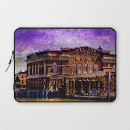 Broadway City Pier, Under Purple Skies, Fells Point, Baltimore, Maryland  Laptop Sleeve
