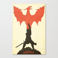 dragon age Canvas Prints featuring Dragon Age: Inquisition V1 by FelixT