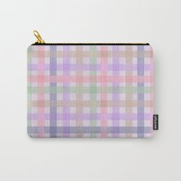 Plaid Pastels {DARK} Carry-All Pouch