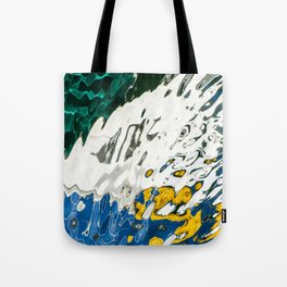 Yellow Blue Green Abstract Tote Bag