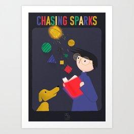 Chasing Sparks Art Print