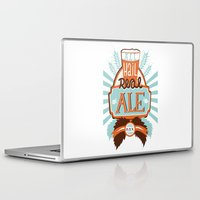ale giorgini Laptop & iPad Skins featuring All Hail Real Ale by Kerry Hyndman