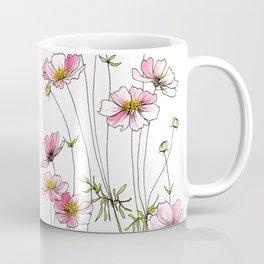 Pink Cosmos Flowers Kaffeebecher