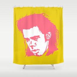 Sad Nick Cave #2 Shower Curtain
