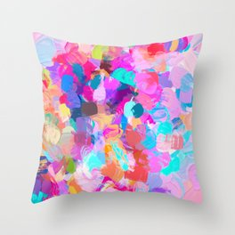 Candy Shop #painting Throw Pillow