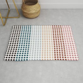 Small colourful squares pattern Rug