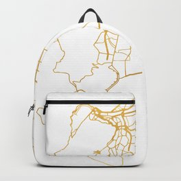CAPE TOWN SOUTH AFRICA CITY STREET MAP ART Backpack
