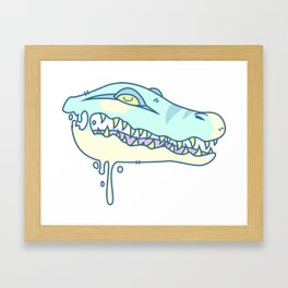icky gator Framed Art Print