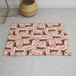 Irish Setter dog breed floral pattern gifts for dog lovers irish setters Rug