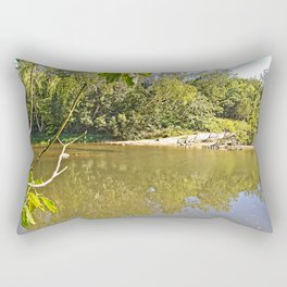 Enjoy the tranquil river Rectangular Pillow