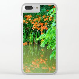 Wild Orange Tiger Daylilies at the Lake Clear iPhone Case