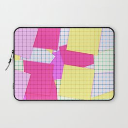Yellow pink plaid Laptop Sleeve