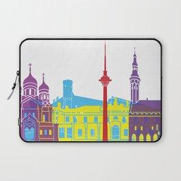 Tallinn skyline pop Laptop Sleeve