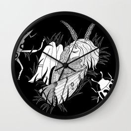 Dream of a baby moth Wall Clock