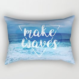 Make Waves Rectangular Pillow