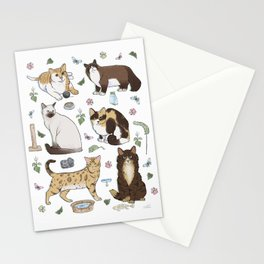 Cute Pet Cats 1 Stationery Cards
