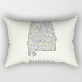 Alabama map Rectangular Pillow