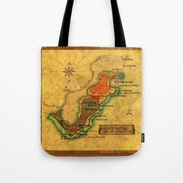 Map Mermaid Cabo de Gata Tote Bag