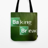 baking Tote Bags featuring Baking Bread by ViMas