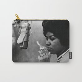 Aretha Franklin Vintage Poster, Black and White Photograph, Soul Music Legends,Housewarming Gift,Home Decor, Prints,Music Art,Home Decor Carry-All Pouch