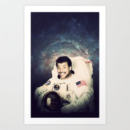 Neil deGrasse Tyson - Astronaut in Space Art Print