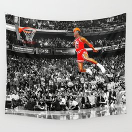 Infamous Jumpman Free Throw Line Dunk Poster Wall Art, MichaelJordan Poster Wall Tapestry